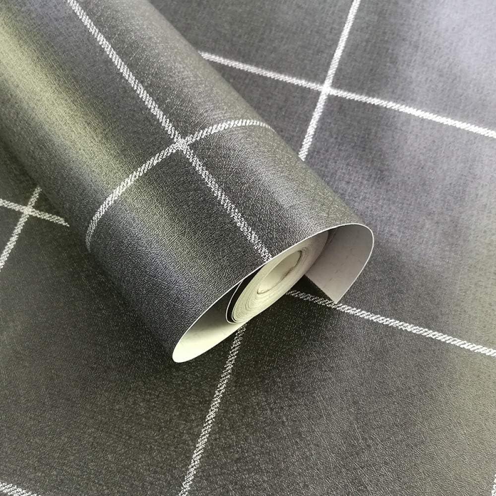 Nordic Papel pintado adhesivo impermeable para armario, PVC autoadhesivo, diseño de celosía, Black and White Strip, 45cm*10m: Amazon.es: Bricolaje y herramientas