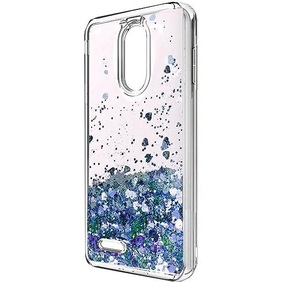 new products 24e1a 87d29 LG Aristo 2 Case, LG K8 2018 Case, LG Tribute Dynasty Case,X210 case, LV3  2018 Case, Skmy Liquid Glitter Sparkle Girl Women Cute Clear TPU+Shockproof  ...