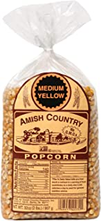product image for Amish Country Popcorn | 2 lb Bag | Medium Yellow Popcorn Kernels | Old Fashioned with Recipe Guide (Medium Yellow - 2 lb Bag)