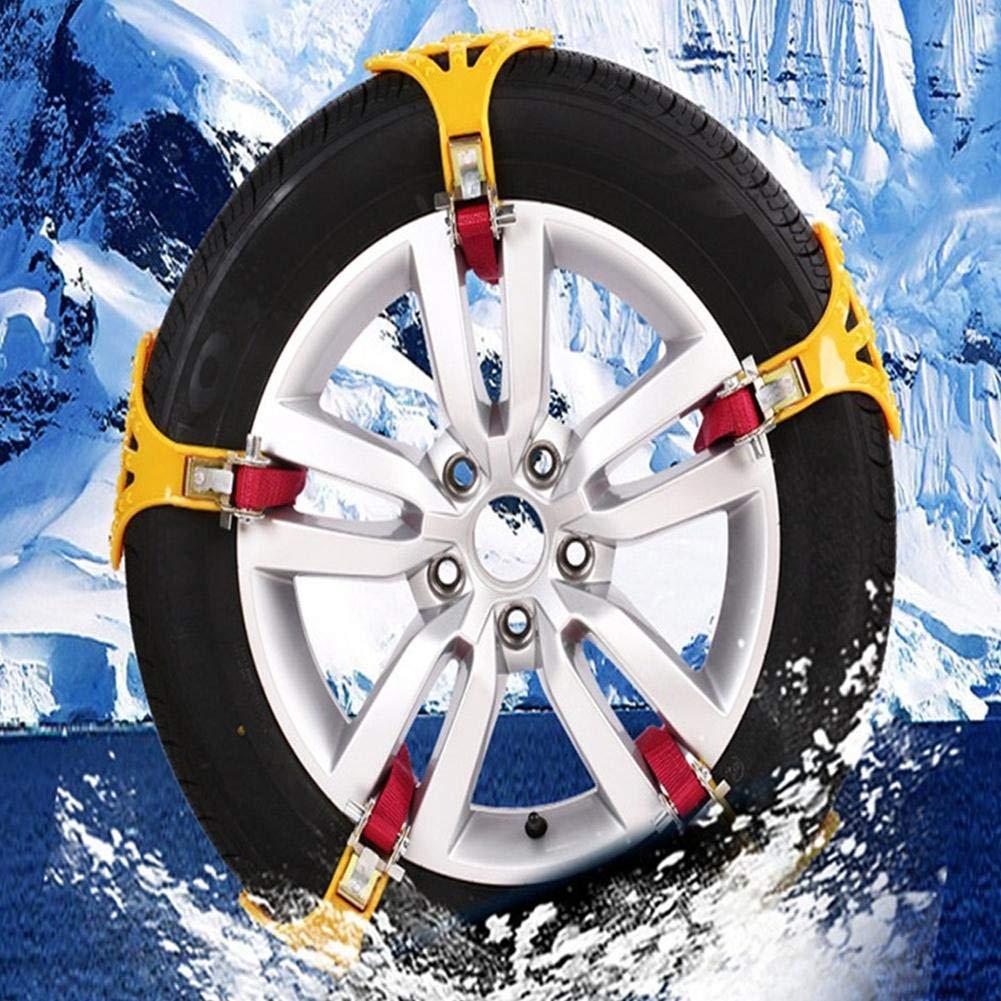 Dream-cool - Cadenas antideslizantes de TPU para nieve, para el coche, para el invierno o la carretera, para la seguridad de los neumáticos, para nieve, ...