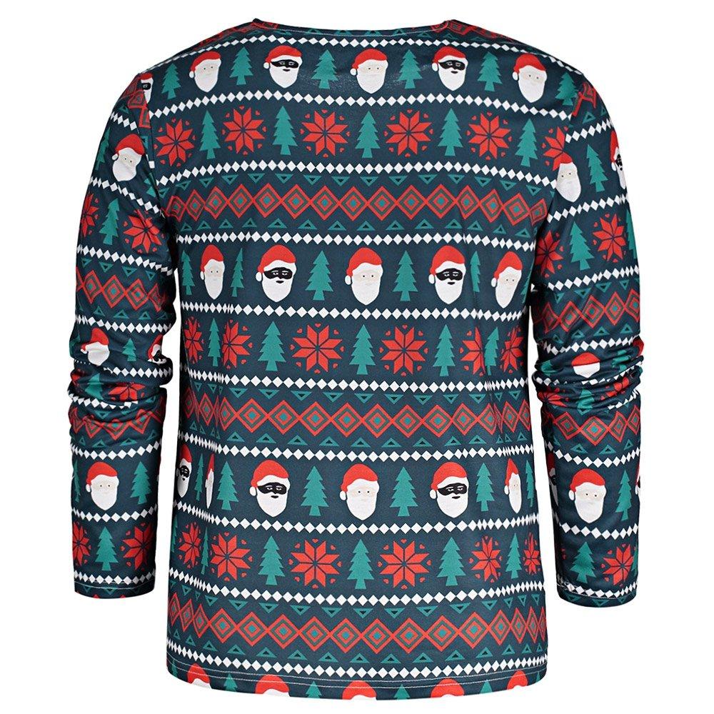 Leomodo Crew Neck Long Sleeve Christmas T-Shirt