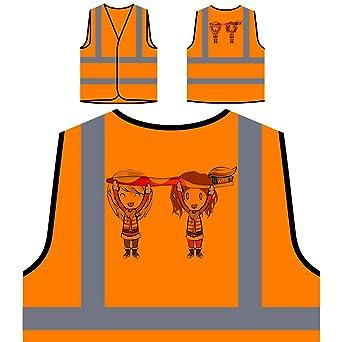 Cepillo de dientes de niños Santa Claus Chaqueta de seguridad naranja personalizado de alta visibilidad u515vo