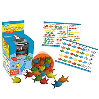 Eureka Dr. Seuss Multicolor Fish Learn to Count Math Manipulatives for Kindergarten, 55pcs