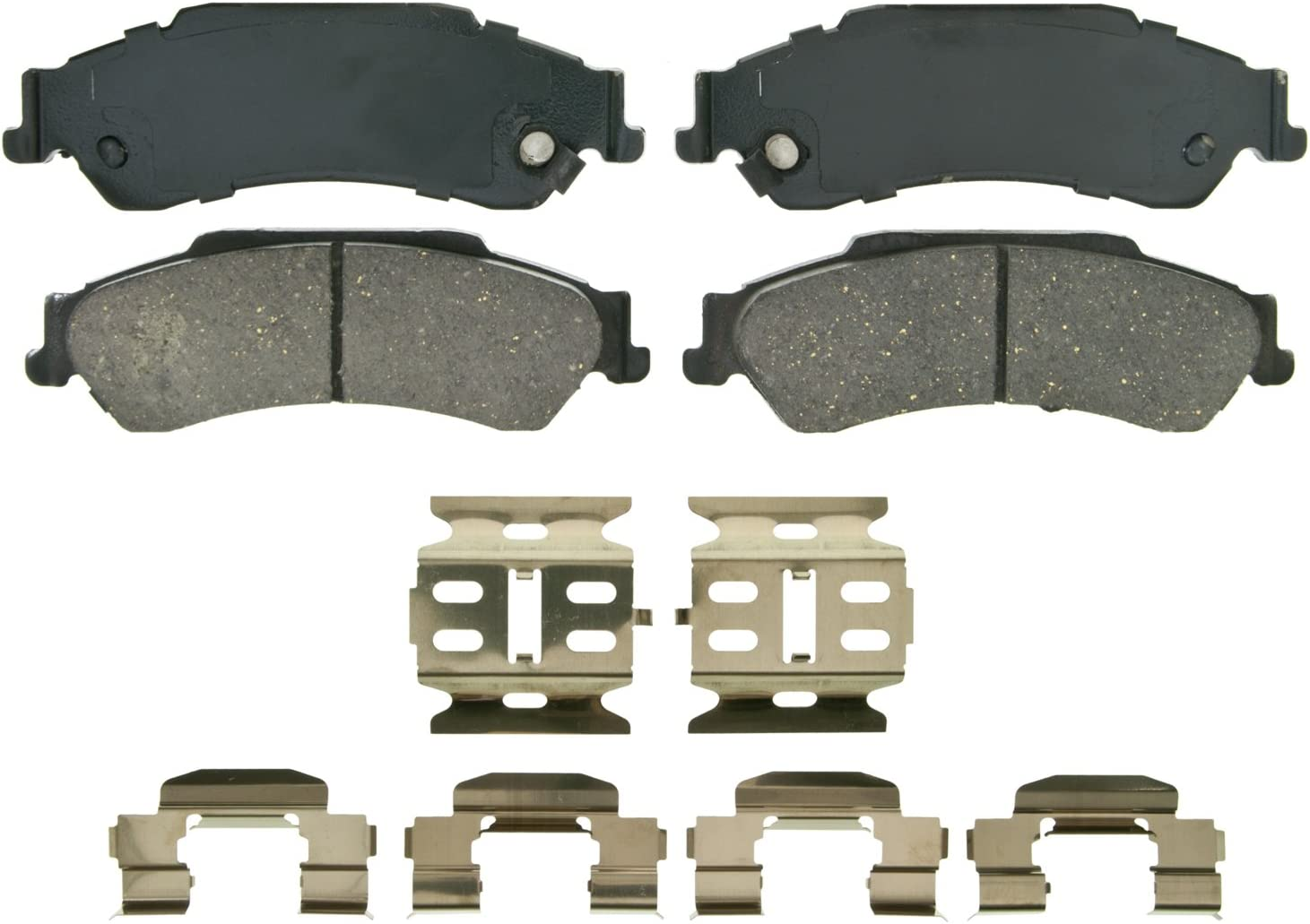 Rear Wagner QuickStop ZD729 Ceramic Disc Pad Set Includes Pad Installation Hardware