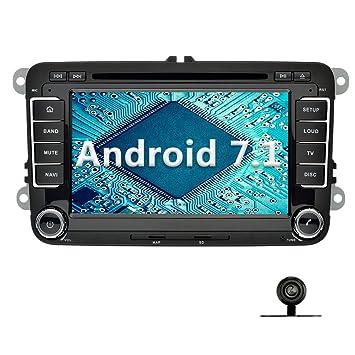 YINUO 7 Pulgadas 2 Din Radio GPS Android 7.1.1 Nougat 2GB RAM Quad Core Pantalla Táctil Estéreo Reproductor De DVD Multimedia Coche GPS Navegador Para ...
