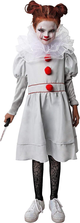 Gojoy shop- Disfraz de Payaso Asesino para Niñas Halloween ...