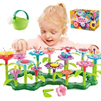 Kingho Flower Garden Building Toys for 3 4 5 6 7 Years Old Girls STEM Gardening Pretend Toy Gift for Kids Toddlers…