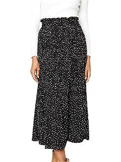 6511df9445 PRETTYGARDEN Women's Fashion High Elastic Waist Polka Dot Printed ...