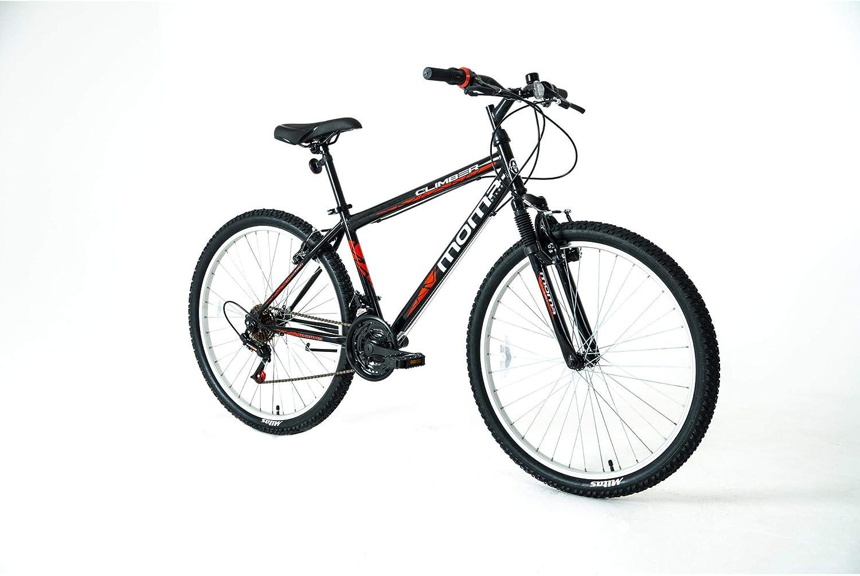 Moma Bikes Bicicleta Montaña MTB26 CLIMBER, 21vel, frenos V-Brake, llantas de aluminio