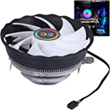 DS 1900RPM CPU Cooler, Aluminum Extrusion Cooling CPU Fan for LGA 775/1155/1156 (Axis Rainbow Auto Change, C Series)