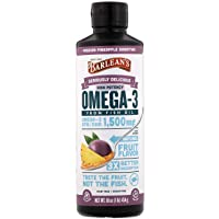 Barlean's Organic Oils  Seriously Delicious Omega-3 High Potency Fish Oil, Passion...