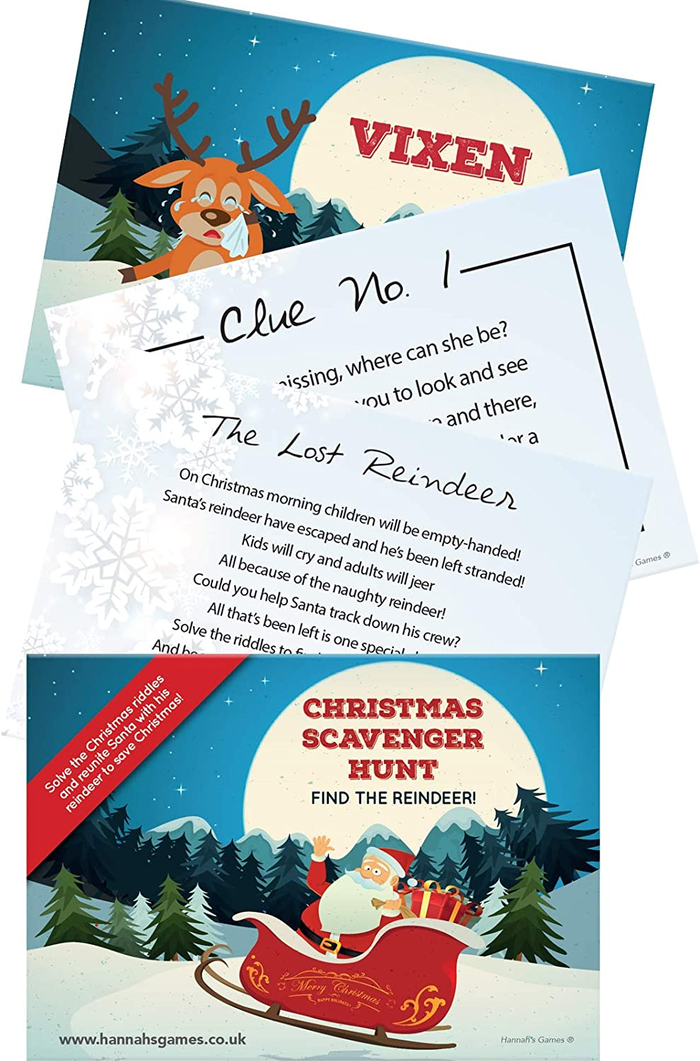 Christmas Treasure Hunt Game Christmas Games Scavenger Hunt Quest 10 Postcard Sized Clues For Family Christmas Fun Xmas Eve Box Elf On A Shelf Arrival Christmas Eve