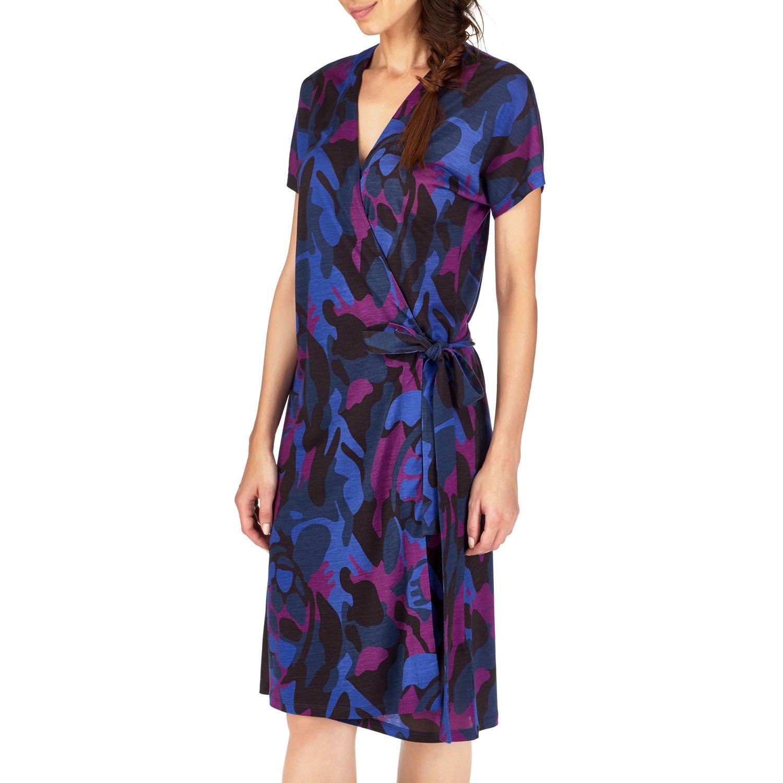 Women Ready to Wear - Camouflage Turtles Wrap-Around Dress - DRESS - FELICIA - Purple - XXS - Vilebrequin Vilebrequin 4DhTlRyS7