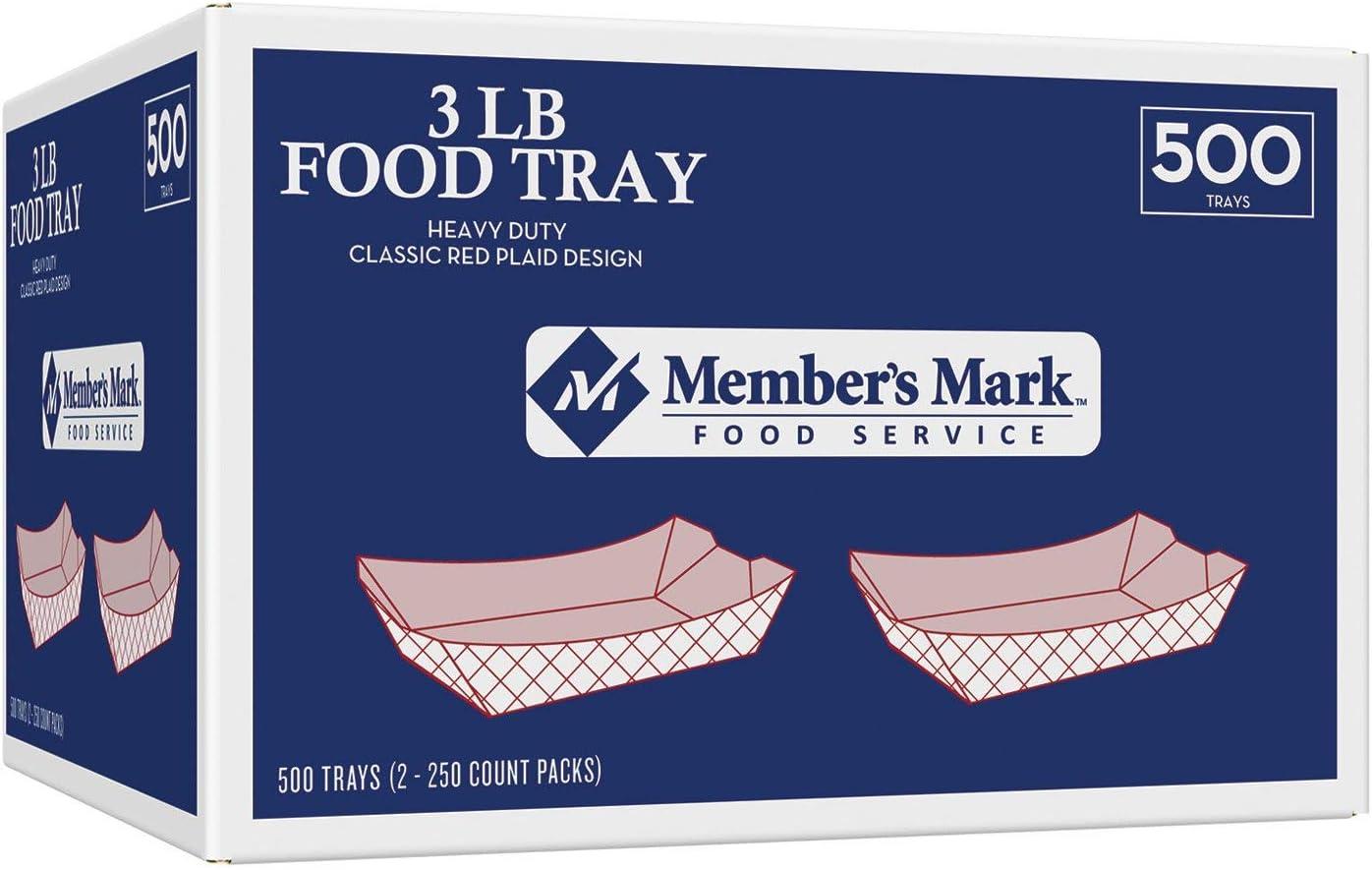 Daily Chef 3 lb. Capacity Food Tray (500 ct.)