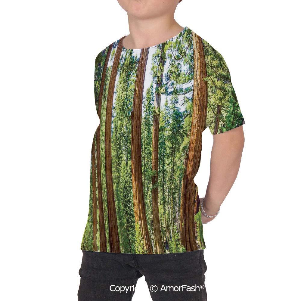 National Parks Home Decor Decor Childrens Short Sleeve Cool T-Shirt,Polyester,U