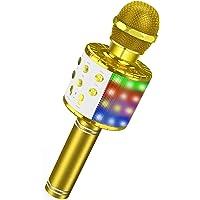 ATOPDREAM Micrófono Karaoke Bluetooth, Microfono Inalámbrico,Micrófono Portátil, Adecuado para Niños Cantando y Fiesta…