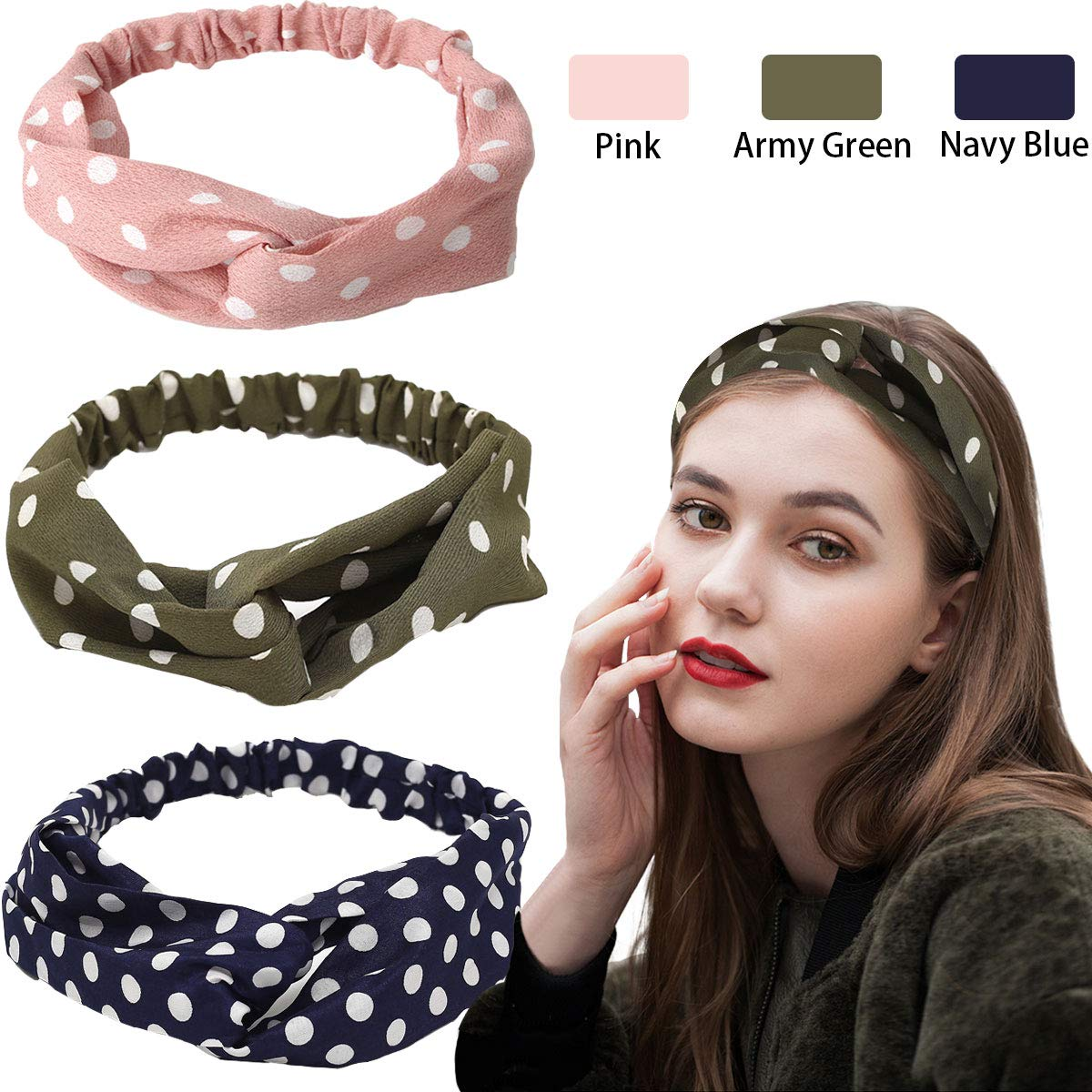 3 Pack Headbands Boho...