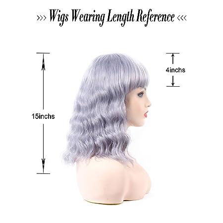Amazon.com: Sif Natural sintético ondulado pelucas para ...