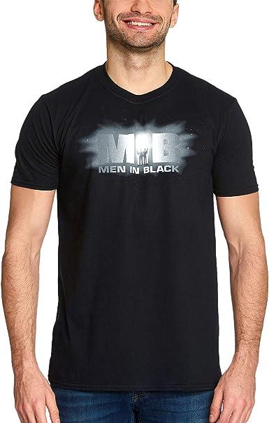 Men in Black Hombres en Negro Camiseta Hombre Logo Algodón Negro ...