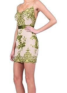 Small-shop Sexy Women Golden Green Black Summer Sequins Dress Elegant V Neck Clubwear Backless