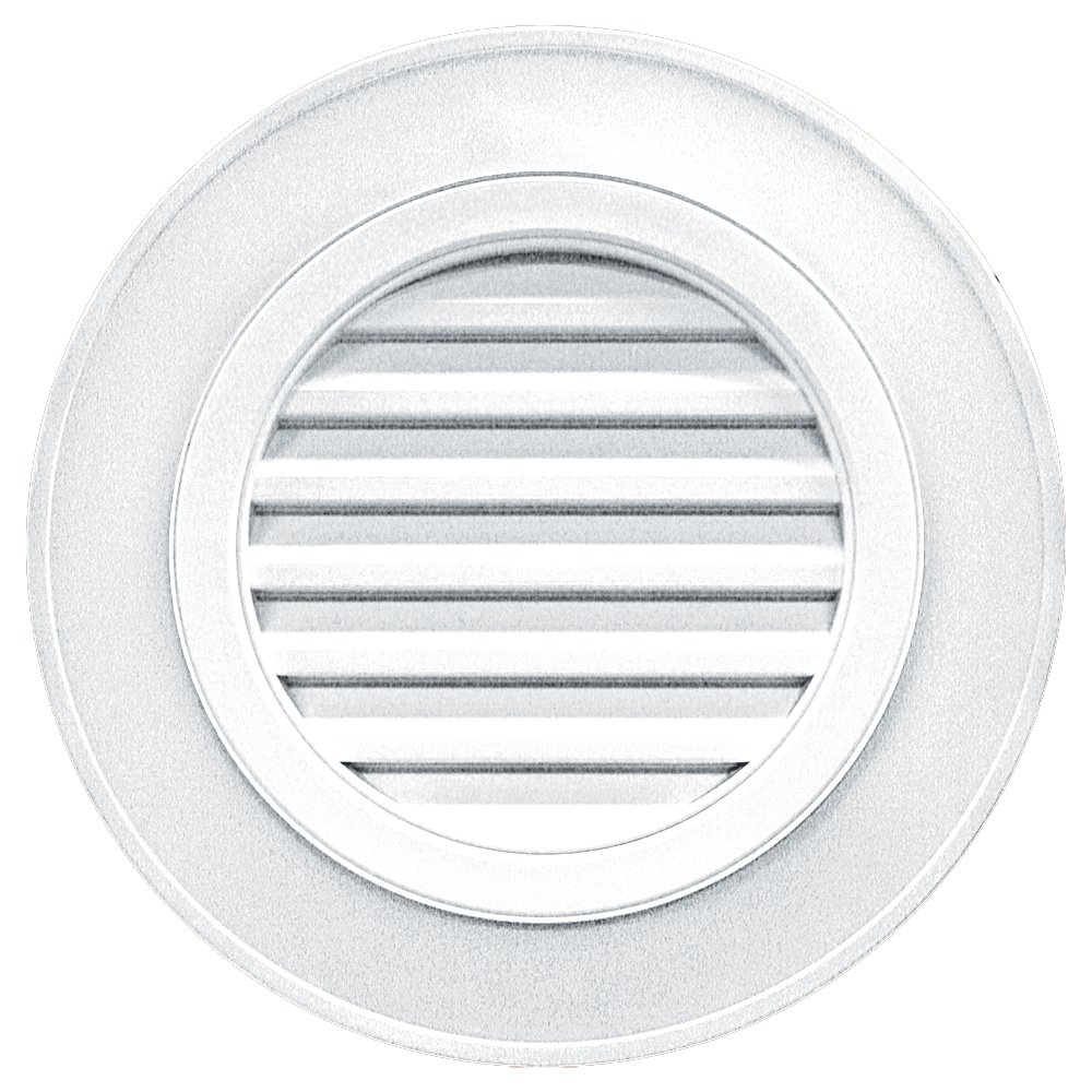 Builders Edge 120032828001 28'' Round Vent Designer without Keystones 001, White