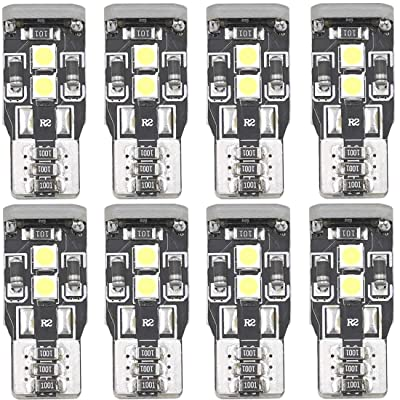 W5W T10 194 LED Map Bulbs Vehicle Interior Door Center High Mount Stop Cargo Courtesy 168 175 2825 2827 LED Front Sidelights Marker Lights Bulbs Non-polar Canbus 3030 Chips 12V 3W: Automotive
