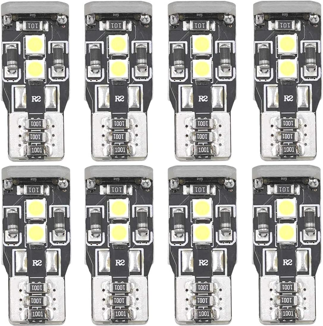 W5W T10 168 194 LED Bulbs 2825 2827 192A 175 White Bright Led Bulb Non-polar Canbus 3030 Chipsets 12V Exterior Automotive Interior Convenience Side Marker Light Bulbs