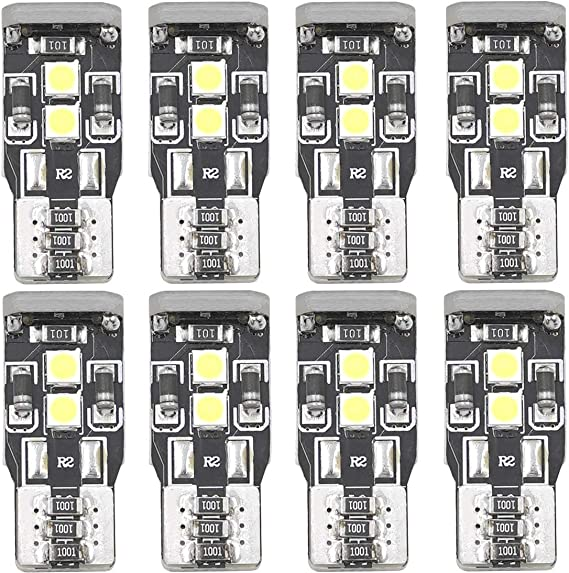 W5W T10 194 LED Map Bulbs Vehicle Interior Door Center High Mount Stop Cargo Courtesy 168 175 2825 2827 LED Front Sidelights Marker Lights Bulbs Non-polar Canbus 3030 Chips 12V 3W