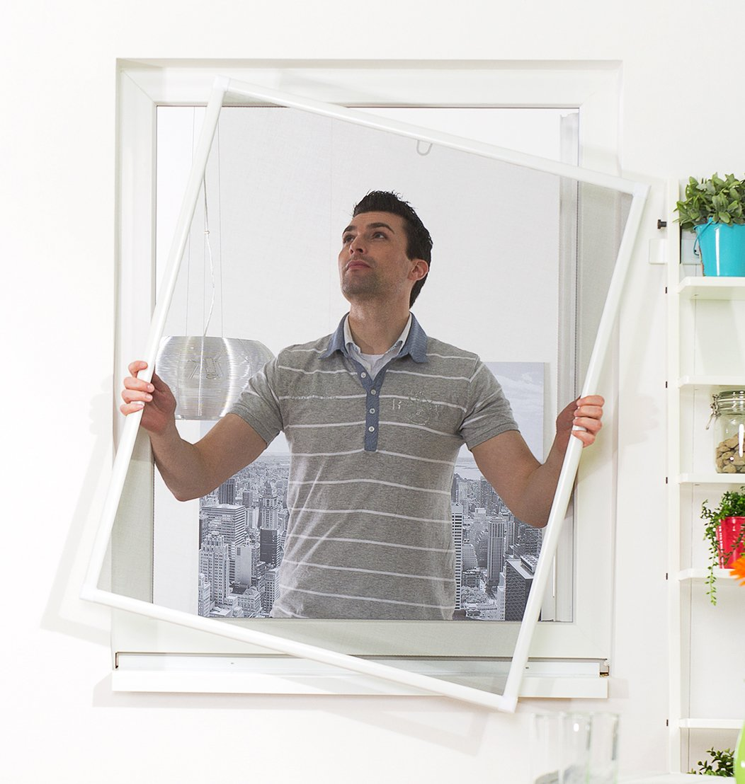 Culex Fensterfliegengitter Basic 120 x 140 cm, weiß , 100010301-VH