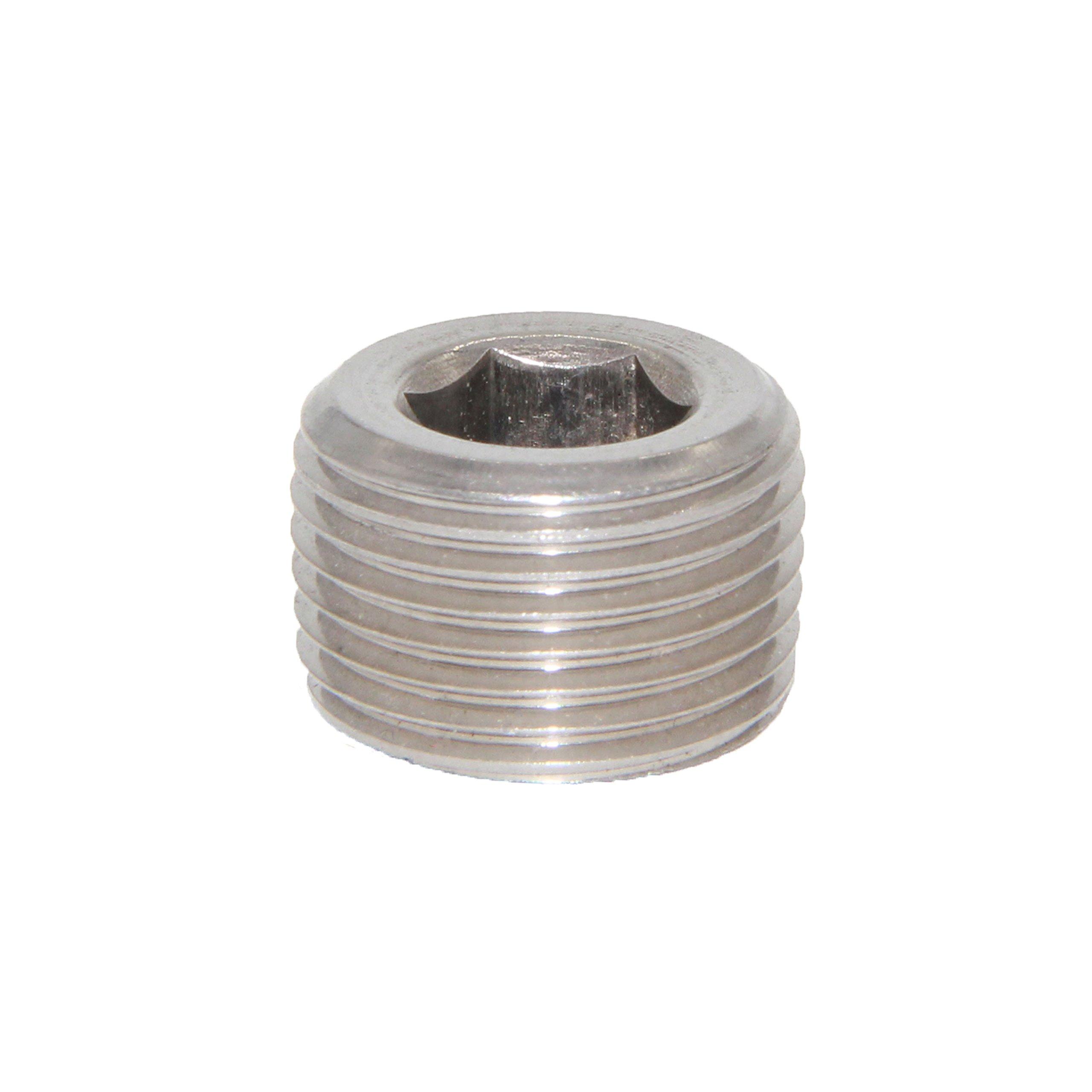 Joyway Stainless Steel Internal Hex Countersunk Thread Socket Pipe Plug 3/4'' NPT Male