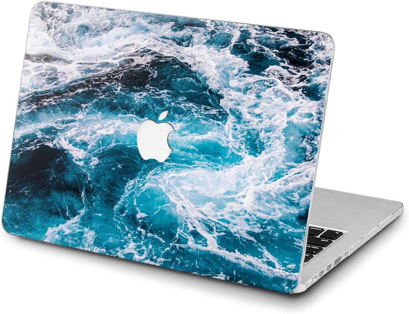 Lex Altern Hard Case for Apple MacBook Pro 15 Air 13 inch Mac Retina 12 11 2020 2019 2018 2017 2016 Sea Foam Splash Women Laptop Ocean Shell Realistic Protective Design Nature Waves Cover Plastic