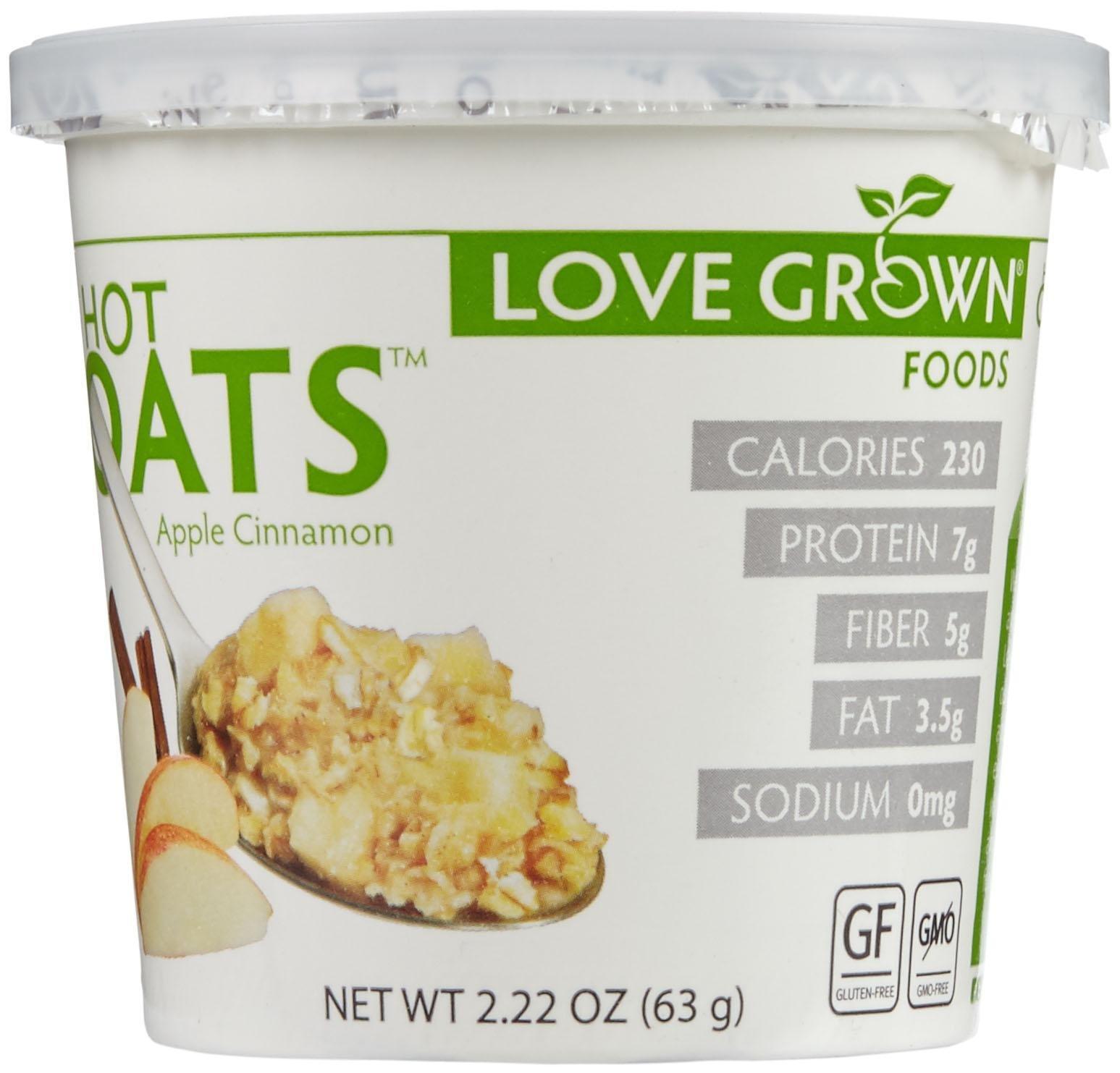 Love Grown Foods Hot Oats - Apple Cinnamon - 2.22 oz - 8 Pack