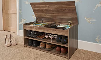 858eb5c499a2 Image Unavailable. Image not available for. Colour: Home Source Shoe  Storage Cabinet Rack Wooden Hallway ...