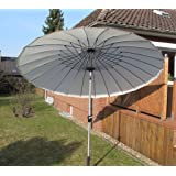 Small-Preis Alu - Sonnenschirm 270 cm mit Carbonstangen weiß
