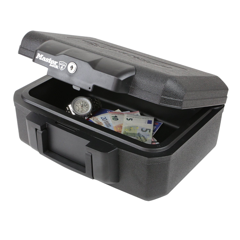 3. Feuerfeste Dokumentenbox Master Lock L1200, 36,2 x 28,4 x 15,5 cm, Schwarz