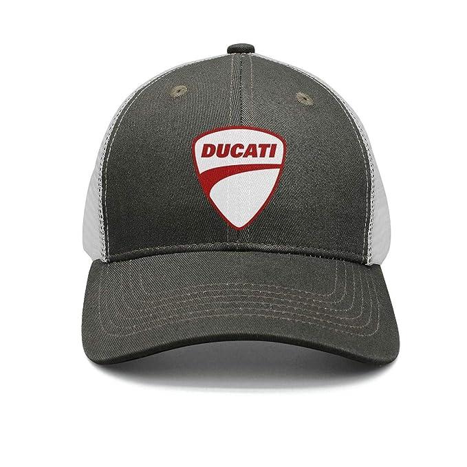 a3ed999bb Amazon.com: Vintage Ducati-Moto-Logo- Printing Outdoor Flat Brim ...