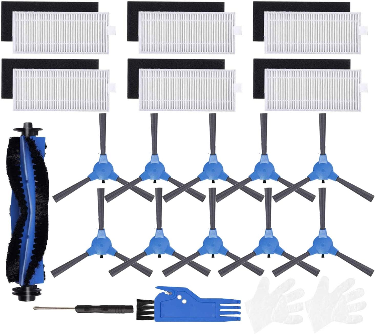 Set Of 5 For Robots 360 S6 Vacuum Cleaner Parts  Side Roller Brushes Filters Hot