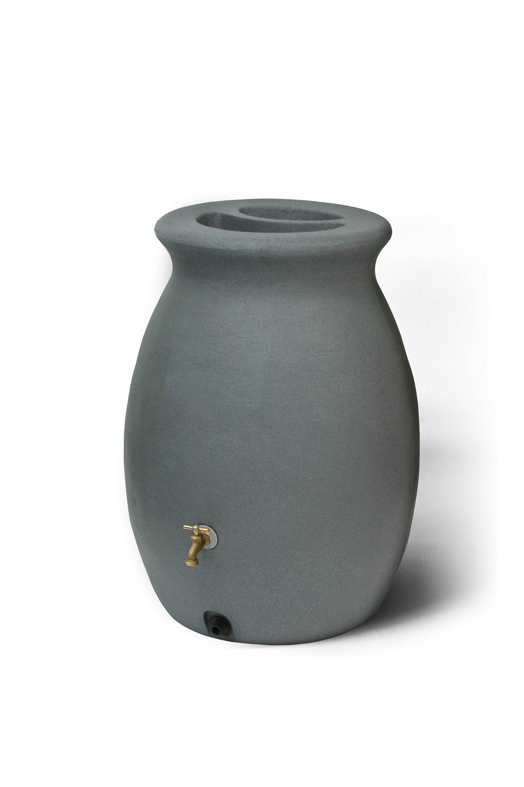 Algreen Products Castilla Rain Barrel 50-Gallon, Charcoalstone by Algreen