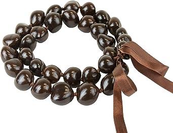 """New Best Quality 32/"""" BROWN Kukui Nut Necklace Lei 10 pcs Wholesale 10 pcs"""