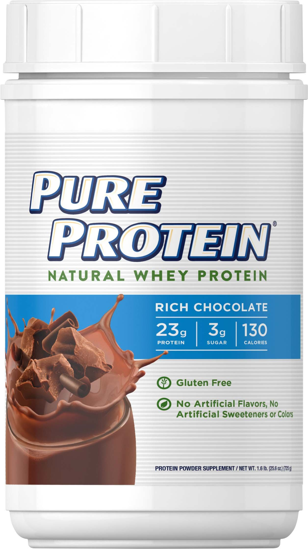 Pure Protein® Natural Whey Powder - Rich Chocolate, 1.6 pounds