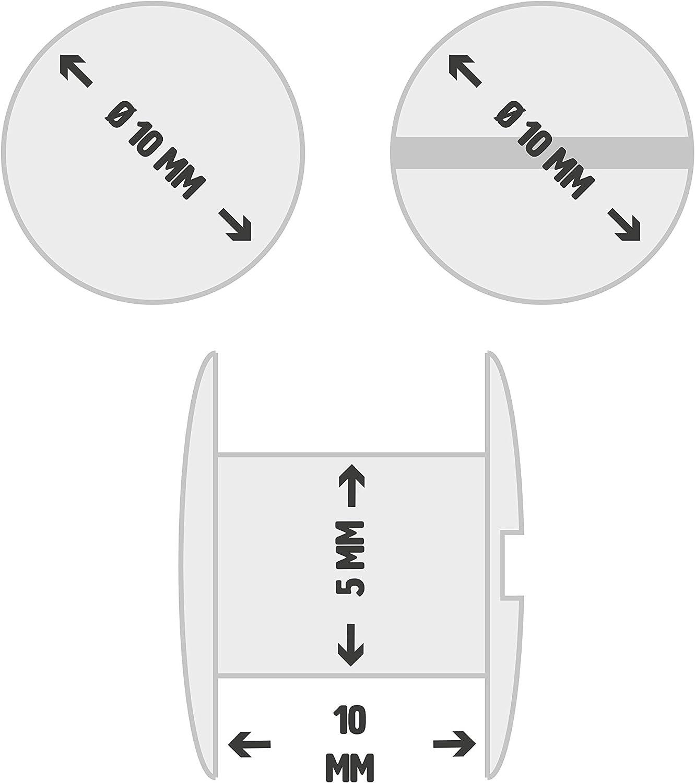 Gobrecht /& Ulrich 25 Buchschrauben vermessingt H/öhe: 2 mm, /Ø Kopf: 10 mm, /Ø Schaft: 5 mm
