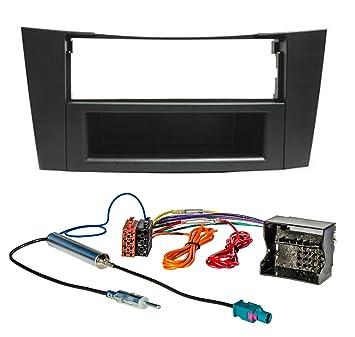 Juego de Instalación de radio (Apertura + Adaptador) para Mercedes Clase E W211 S211 E240 e200t: Amazon.es: Electrónica
