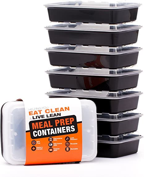 Evolutionize Healthy Meal Prep Containers - Certified BPA-free - Reusable, Washable, Microwavable Food Containers/Bento Box with Lids (7 Pack, Single ...