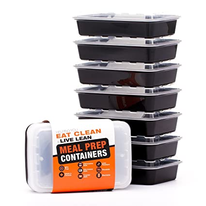 Evolutionize Healthy Meal Prep Containers - Certified BPA-free - Reusable,  Washable, Microwavable Food Containers/Bento Box with Lids (7 Pack, Single