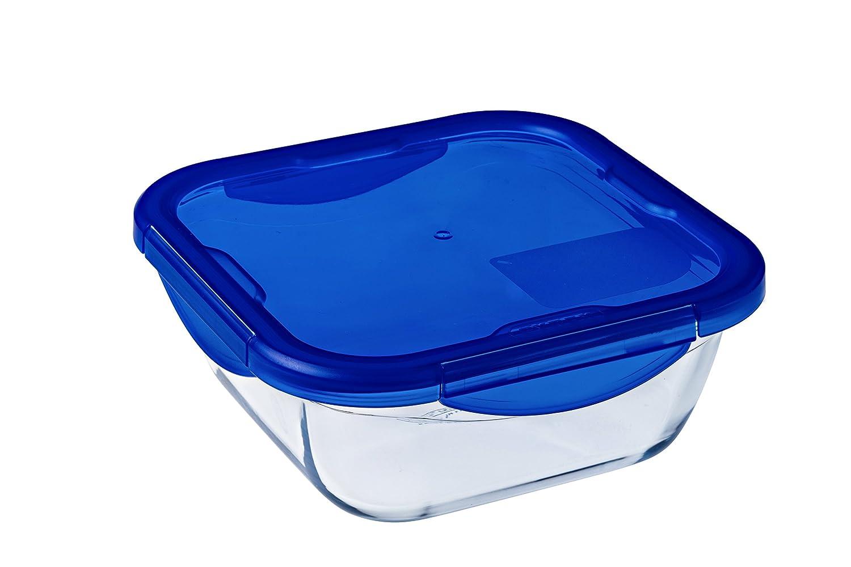 Azul Pyrex Cook/&Go Set de 7 Recipientes con Tapa 100/% Herm/ética 30x30x20 cm 7 Unidades