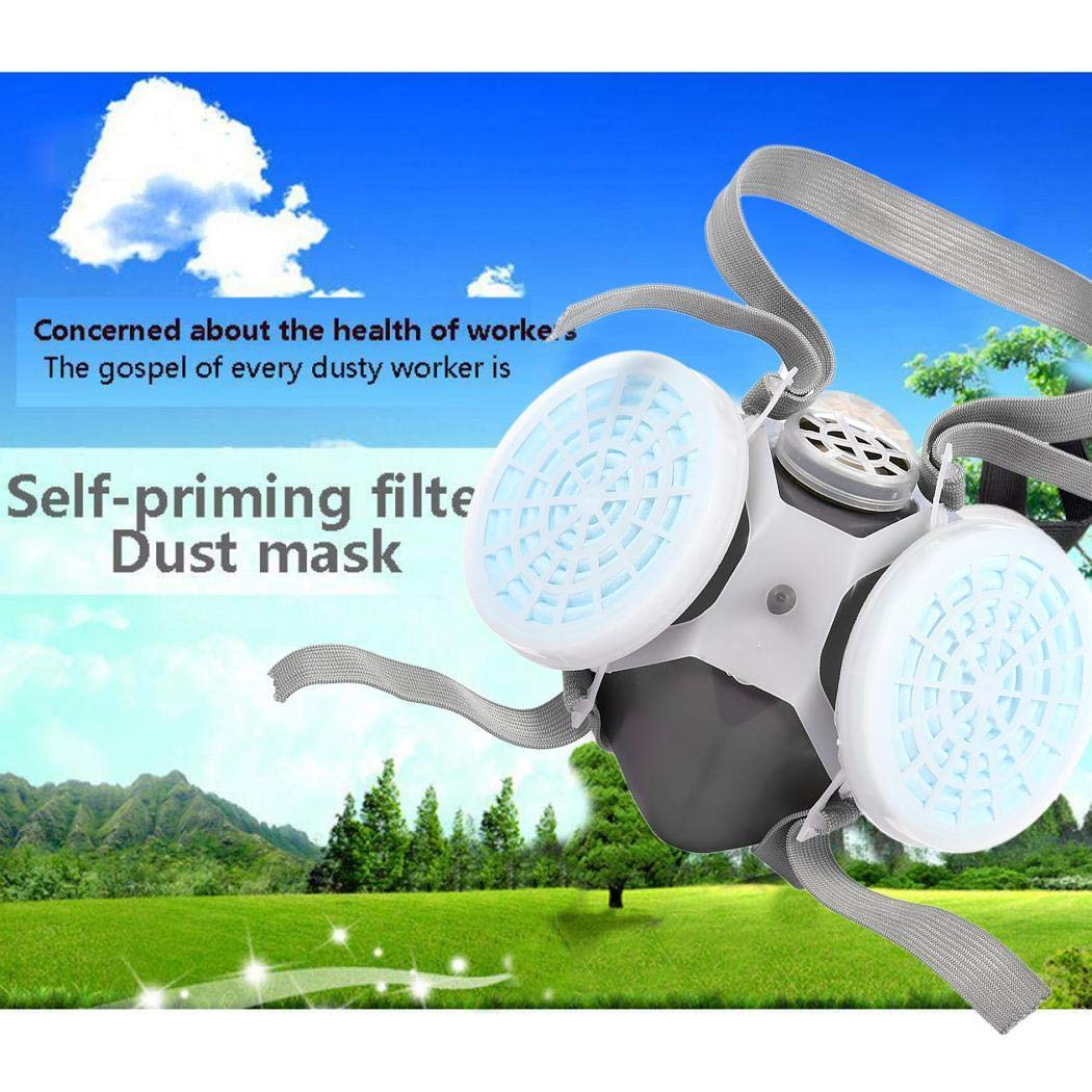 Face Cover with Breathing Valve Dust-Proof Mouth Cover Safety Protection for Outdoor Activities