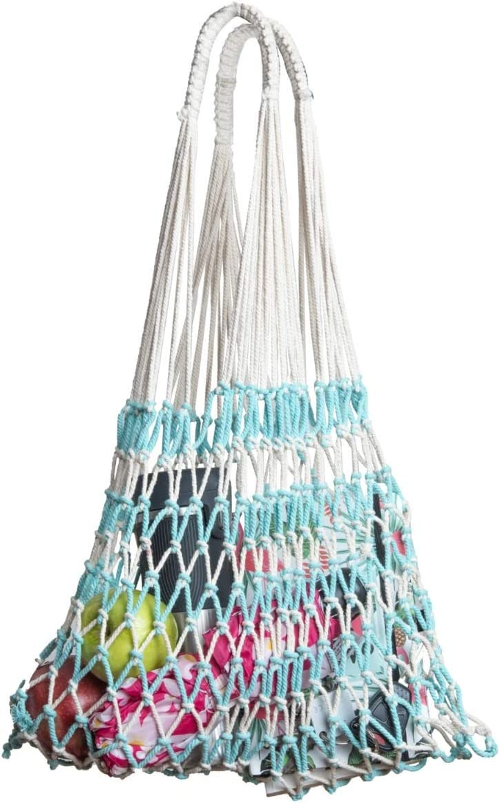 The Luisa MARKET BAG by ALL NAHLO Excellent for whole foods and Groceries. Made with natural straw Trash bags tote reusable miele canvas shopping lunch kavu recycling kitchen household