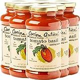 Cucina Antica Non-GMO Pasta Sauce, Tomato Basil, 6 Count
