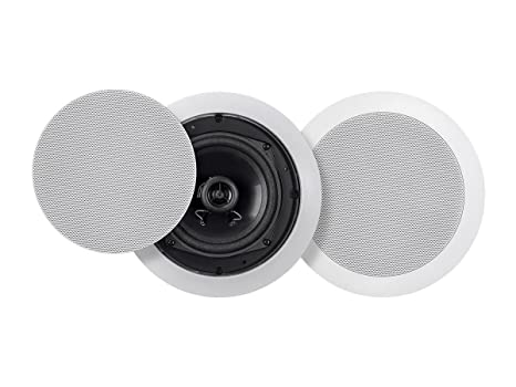 Monoprice Commercial Audio Metro 6W 5.25-inch Coax Ceiling Speaker 70V Pair (No Logo
