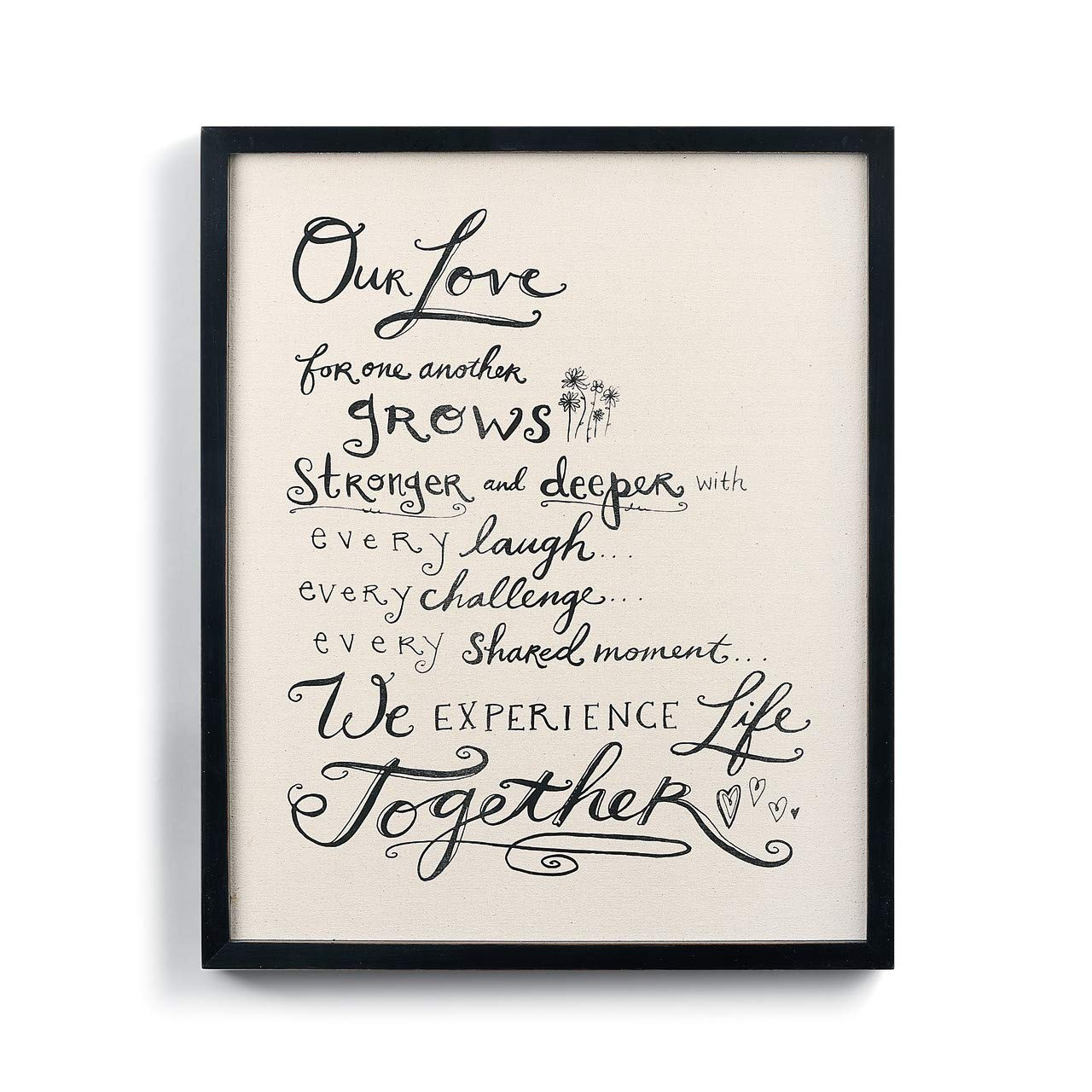 DEMDACO Love for One Another Manifesto Black and White 22 x 18 Wood Decorative Wall Art